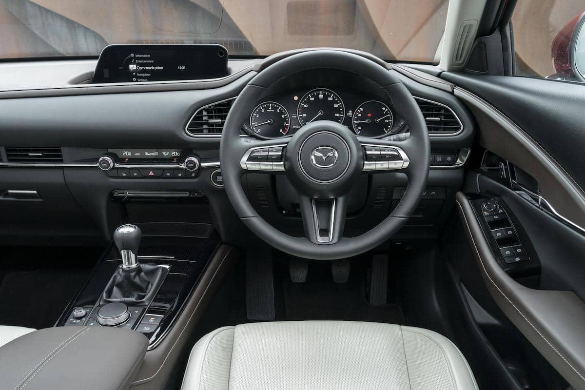 Mazda CX-30 (2018 onwards) – interior and dashboard