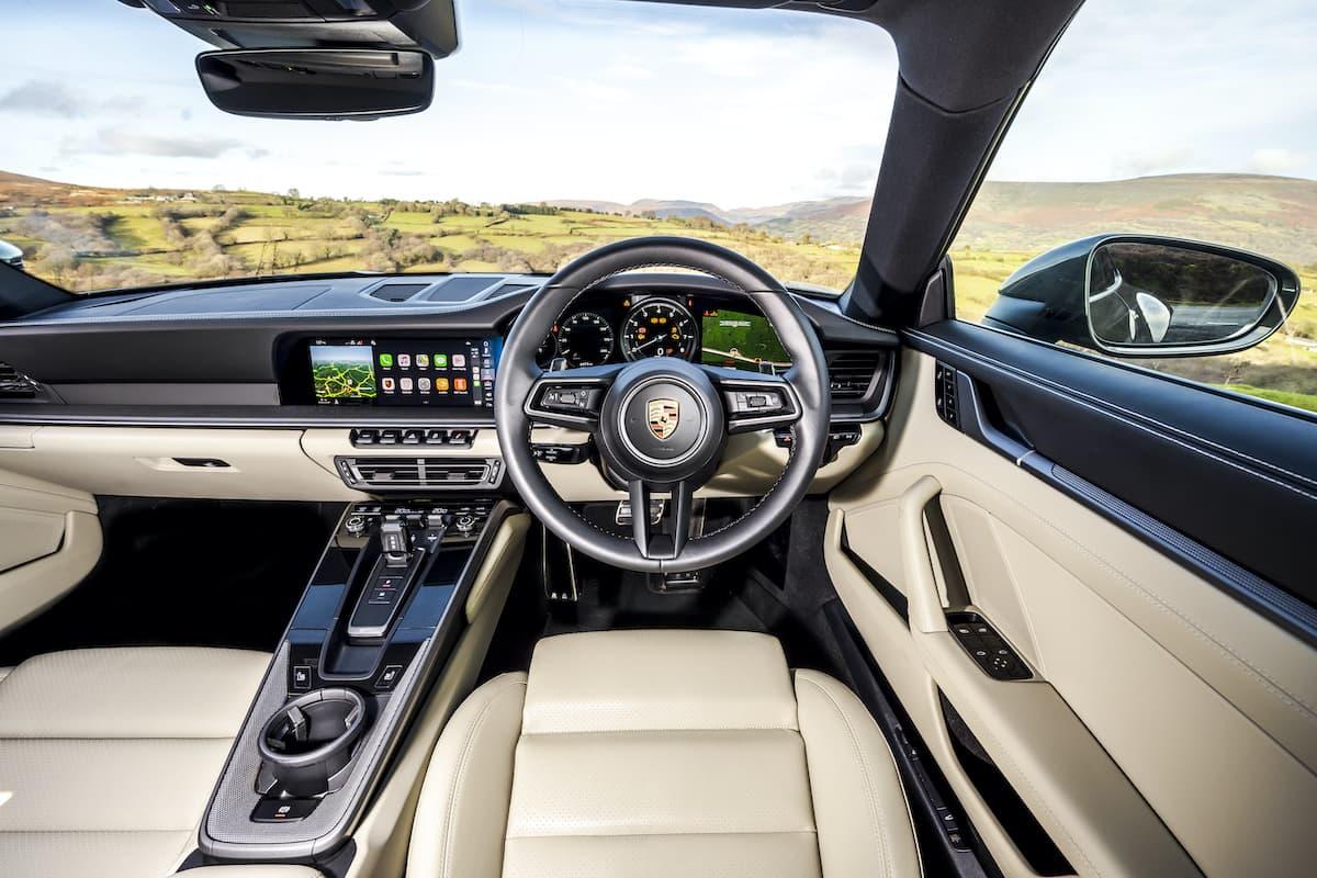 Porsche 911 (992) interior and dashboard