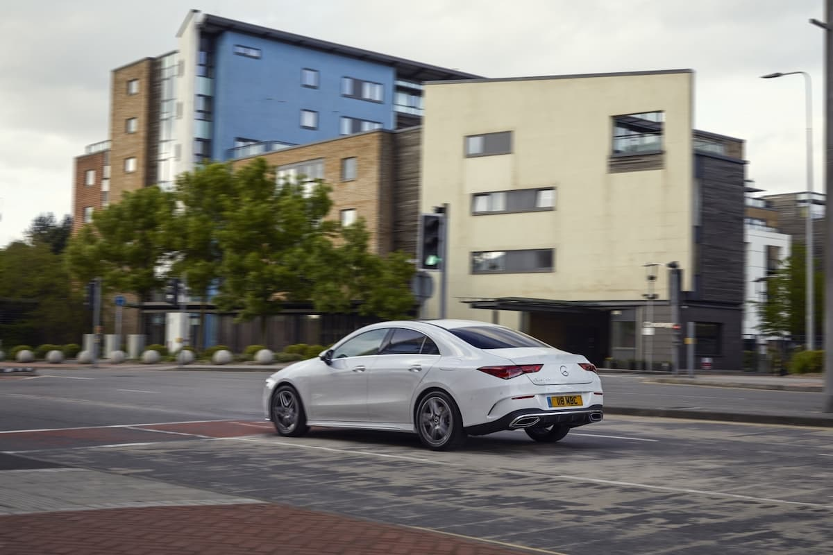 Mercedes-Benz CLA saloon (2019 onwards) – rear view
