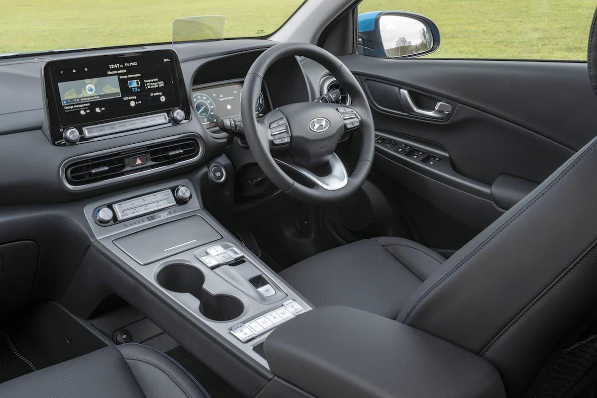Hyundai Kona Electric (2021 onwards) - interior and dashboard