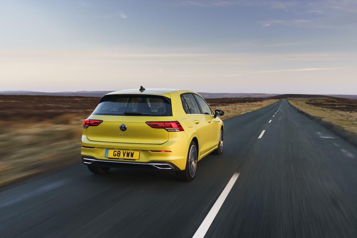 Volkswagen Golf (2020 onward) - rear view