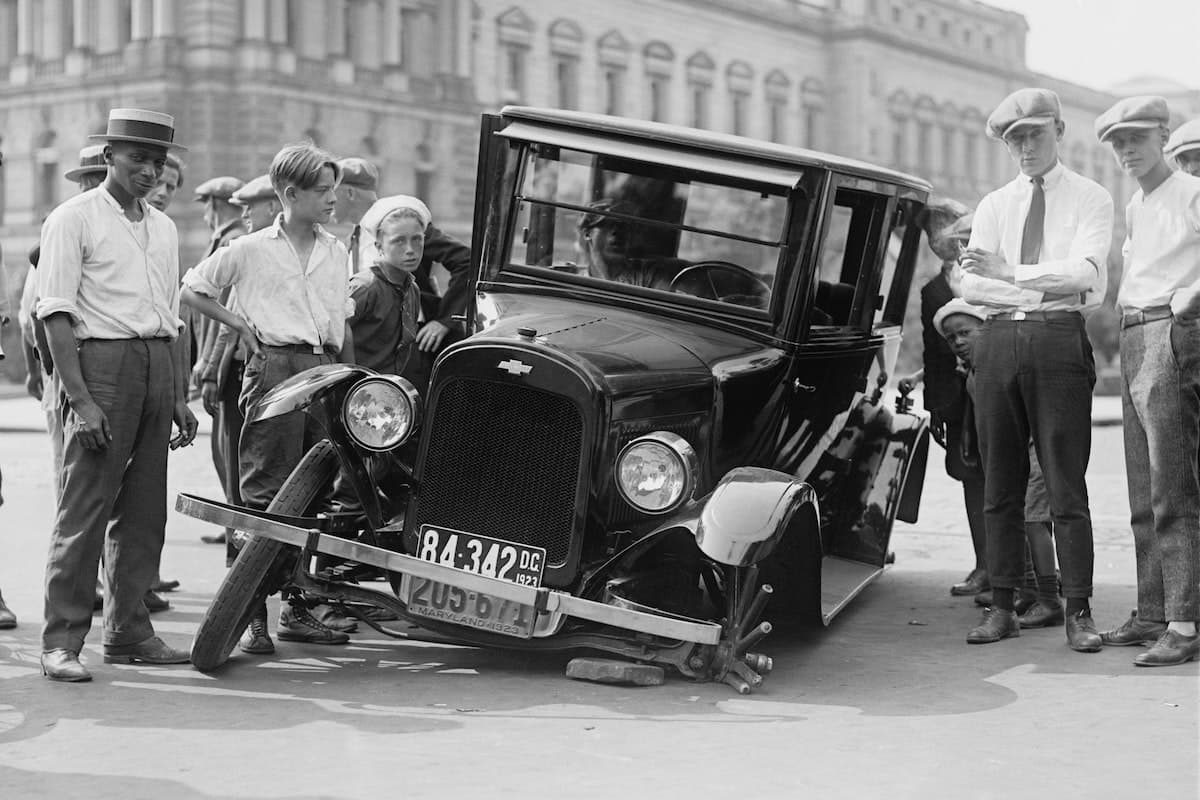 Early Chevrolet involved in a car accident   The Car Expert