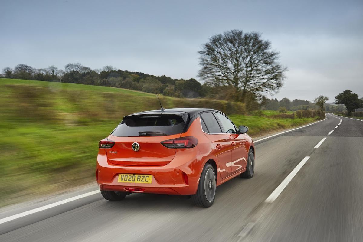 Vauxhall Corsa-e (2020 onwards) – rear