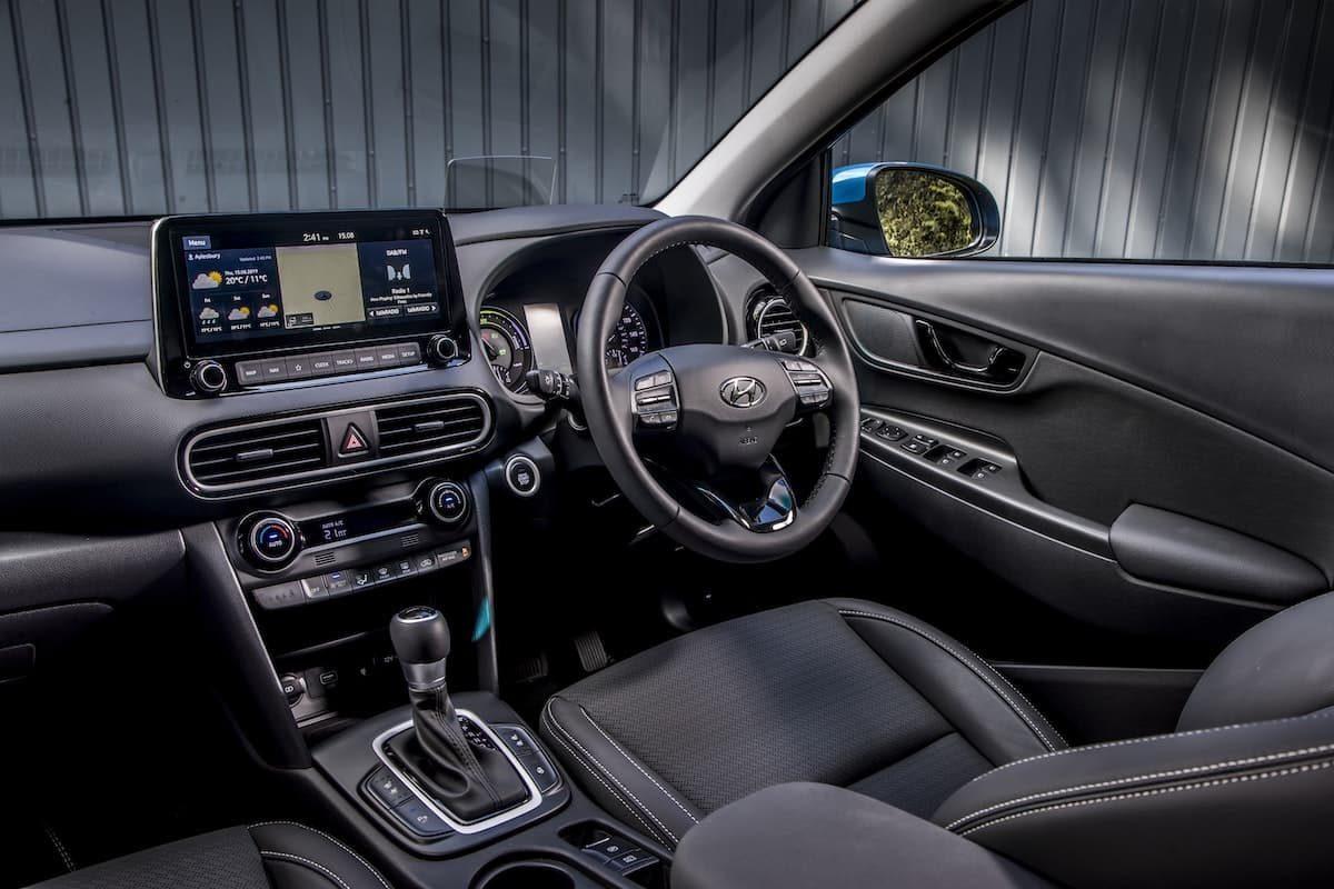 2020 Hyundai Kona Hybrid - interior and dashboard