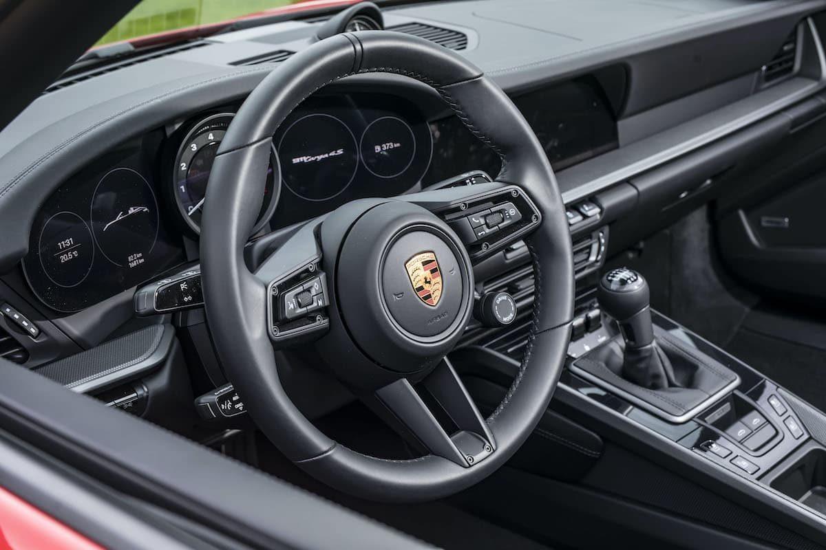 Porsche 911 Targa 4S review - dashboard and steering wheel