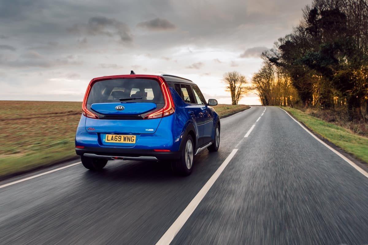 Kia Soul EV (2020 onwards) - rear view