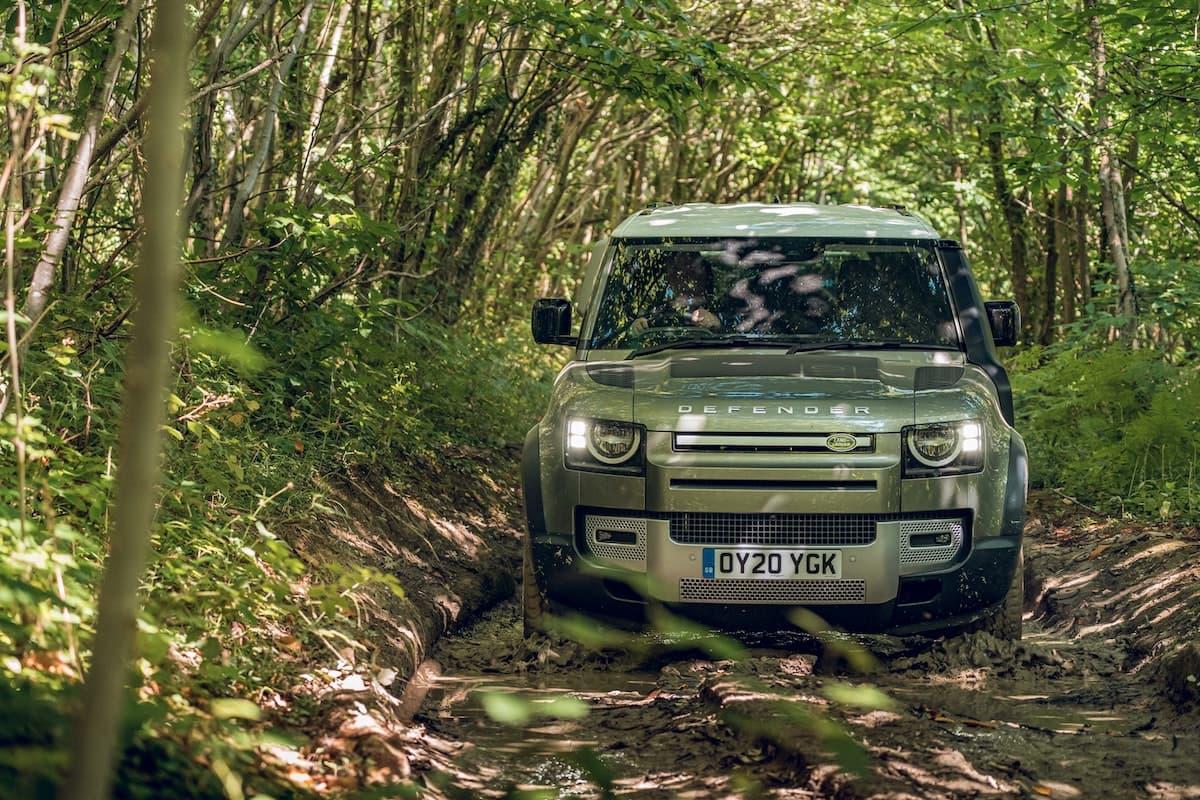 2021 Land Rover Defender 110 off-road test - front | The Car Expert