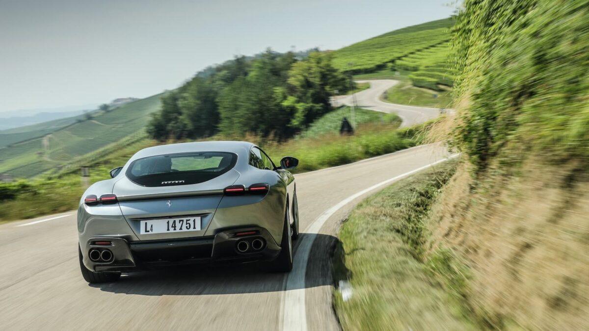 Ferrari Roma road test 2020 - rear view