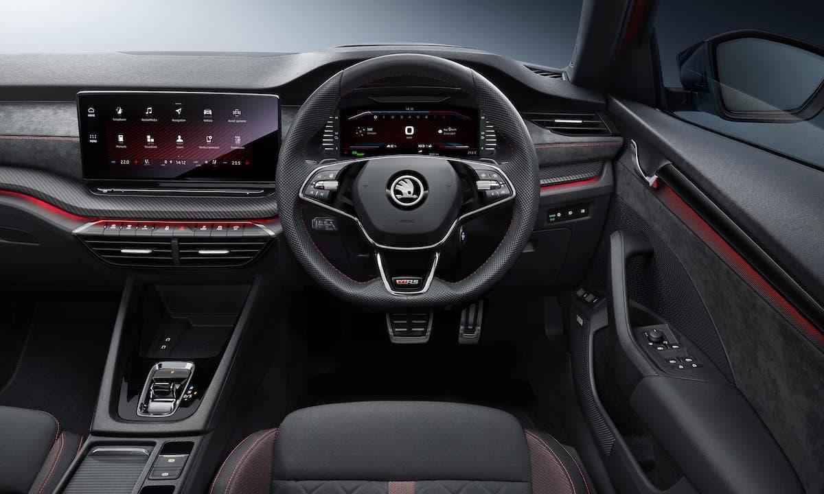 2021 Skoda Octavia vRS – interior and dashboard