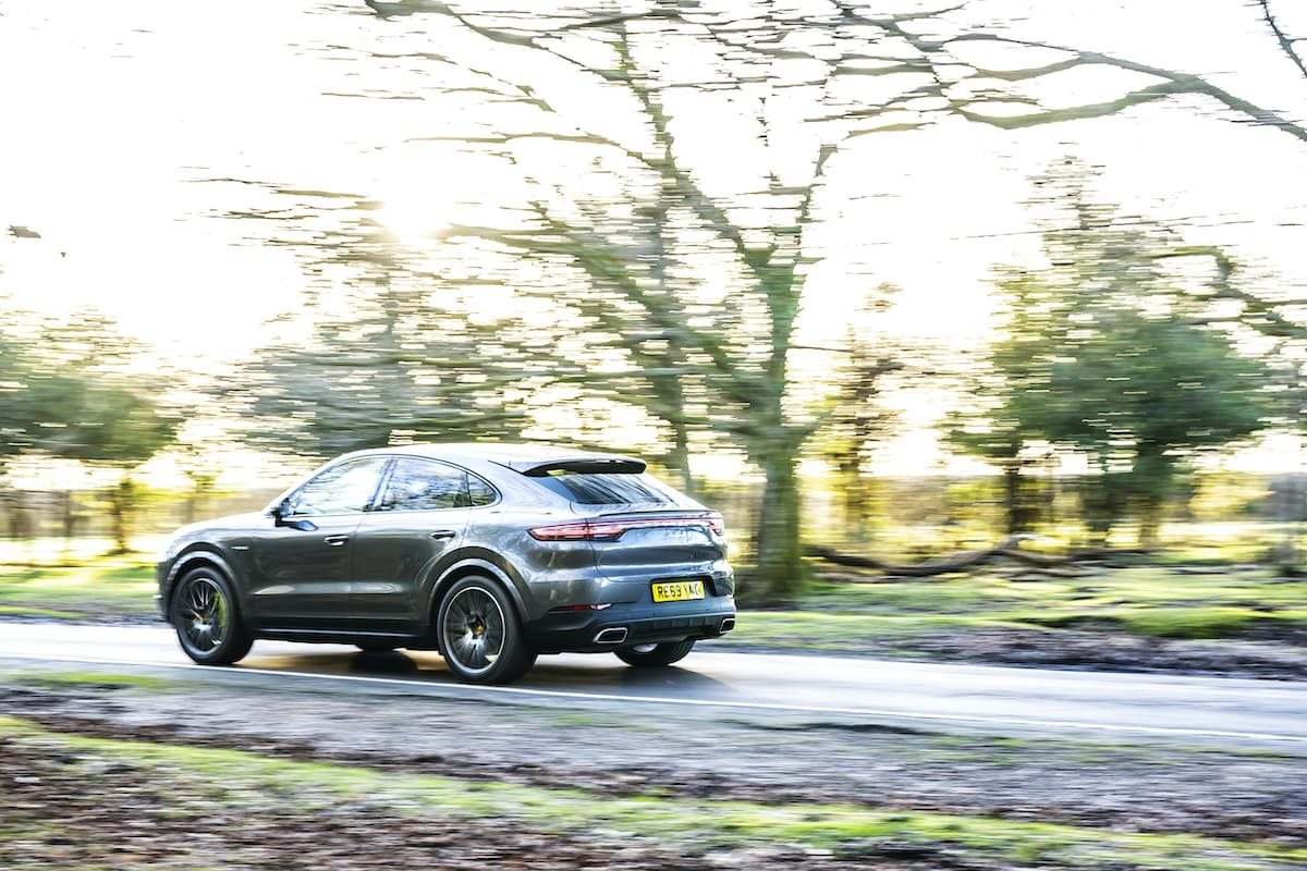 Porsche Cayenne Coupé E-Hybrid road test - rear