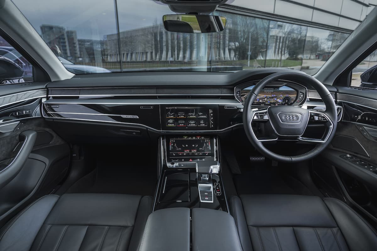 Audi A8 (2018 onwards) – interior and dashboard