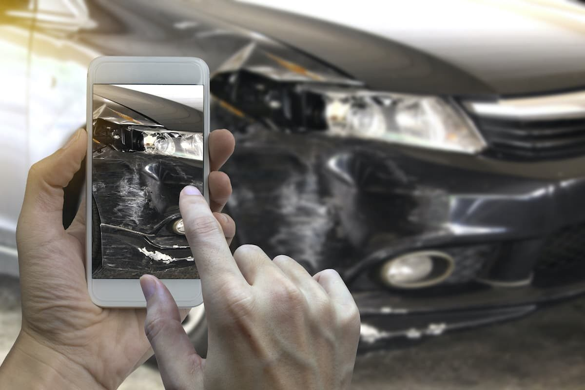 If you've been involved in a shunt, take photos of the damage to your car