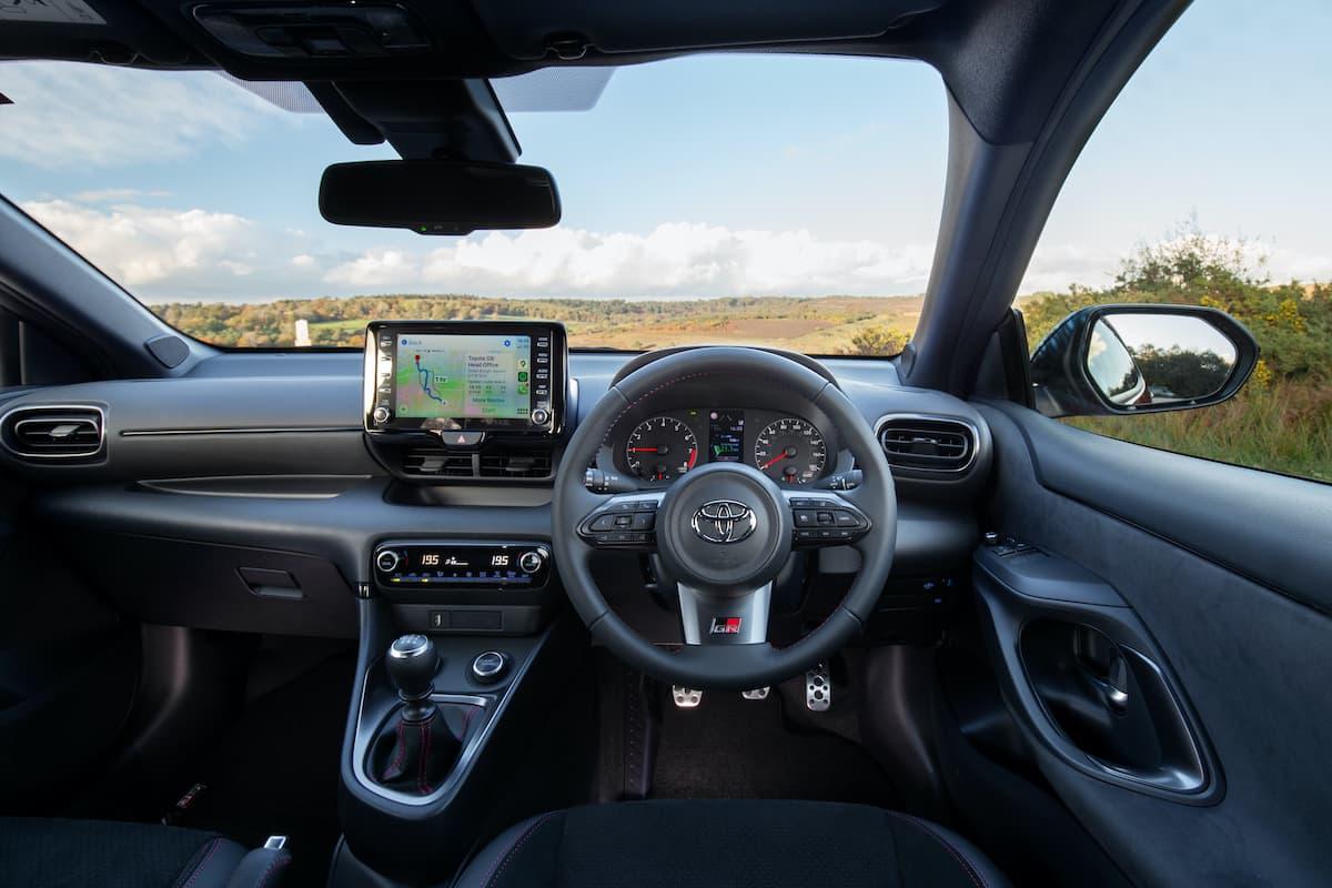 Toyota GR Yaris (2020 onwards) – interior and dashboard