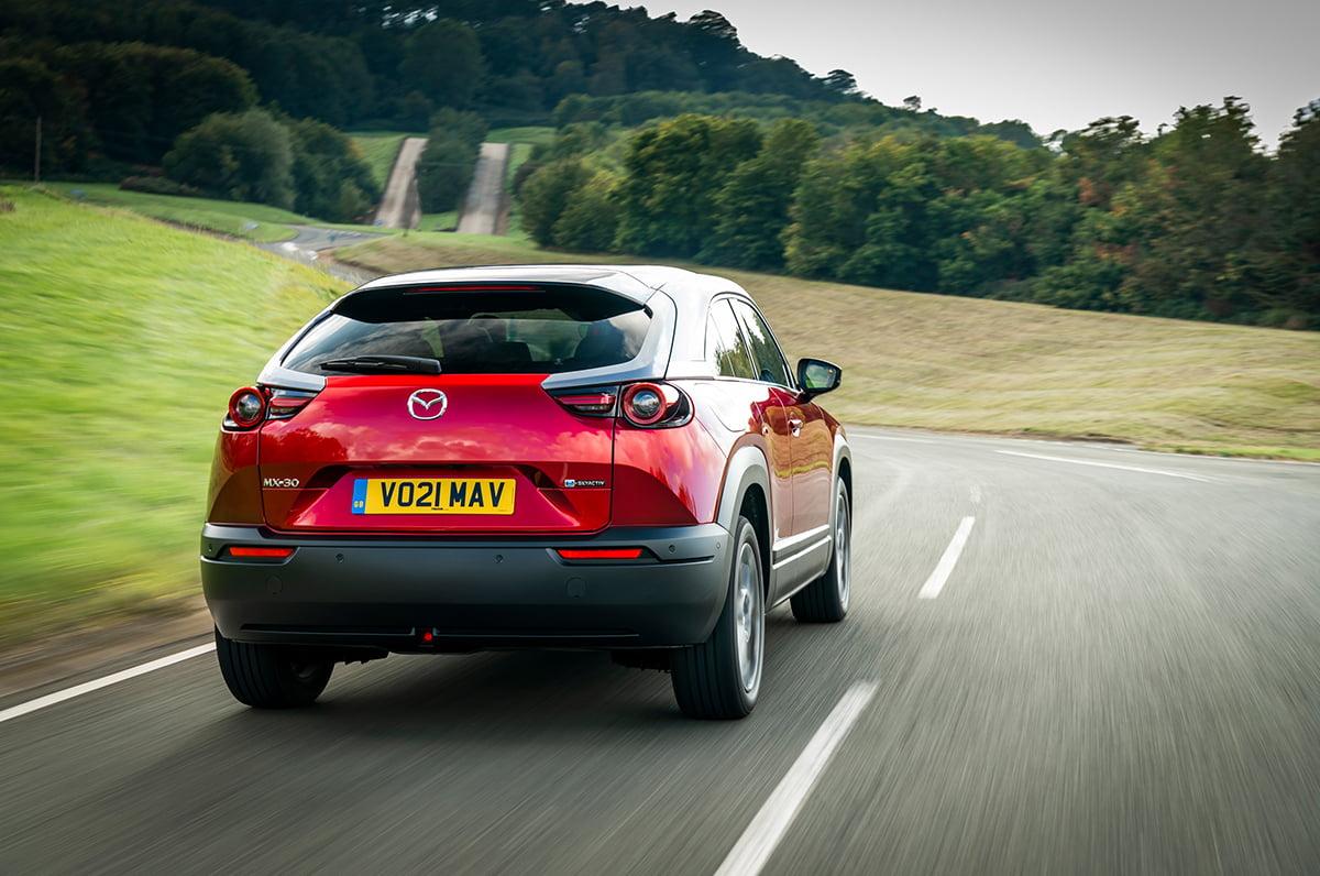Mazda MX-30 (2021) rear action I