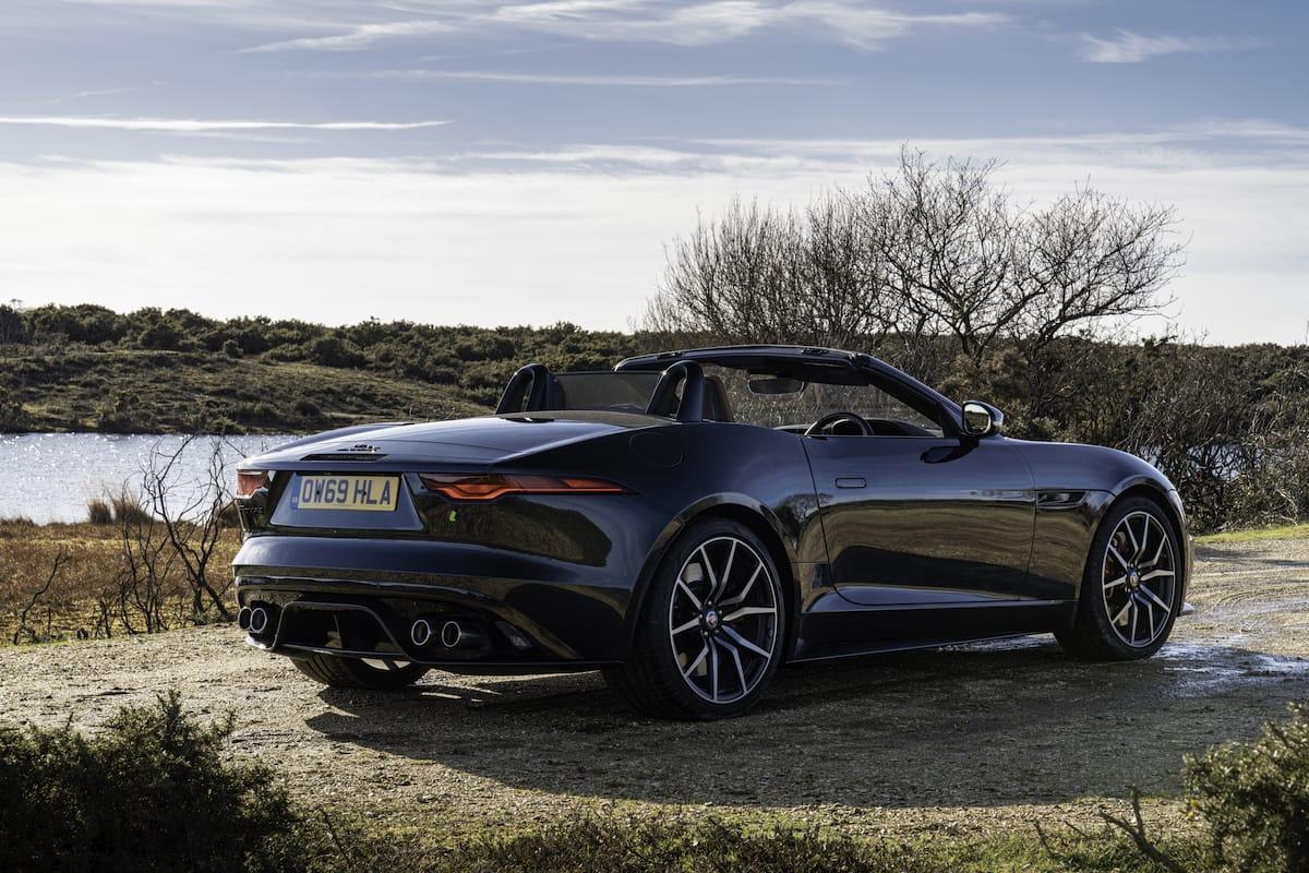 Jaguar F-Type roadster (2020 onwards) - rear view