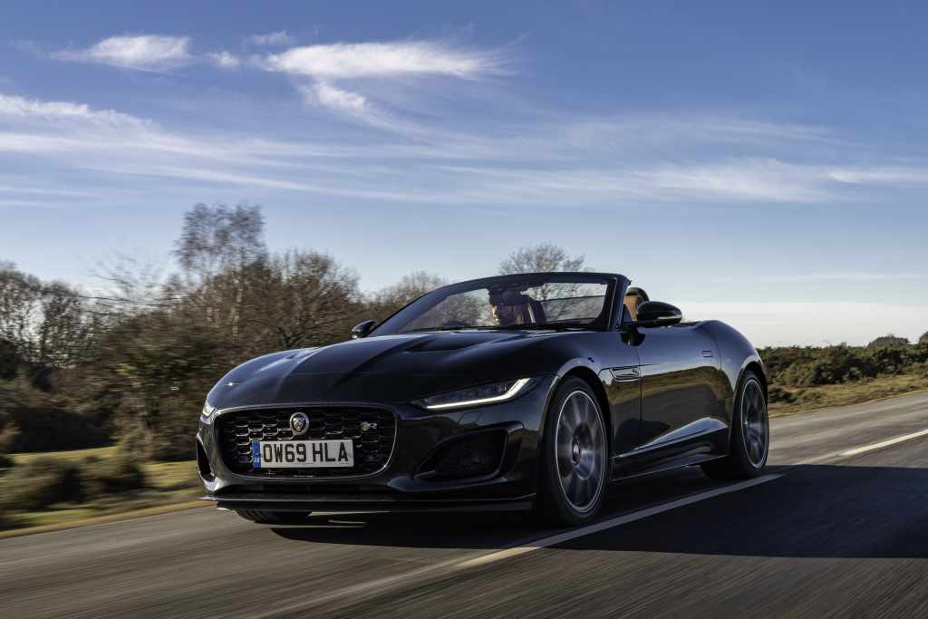 Jaguar F-Type roadster (2020 onwards) - front view