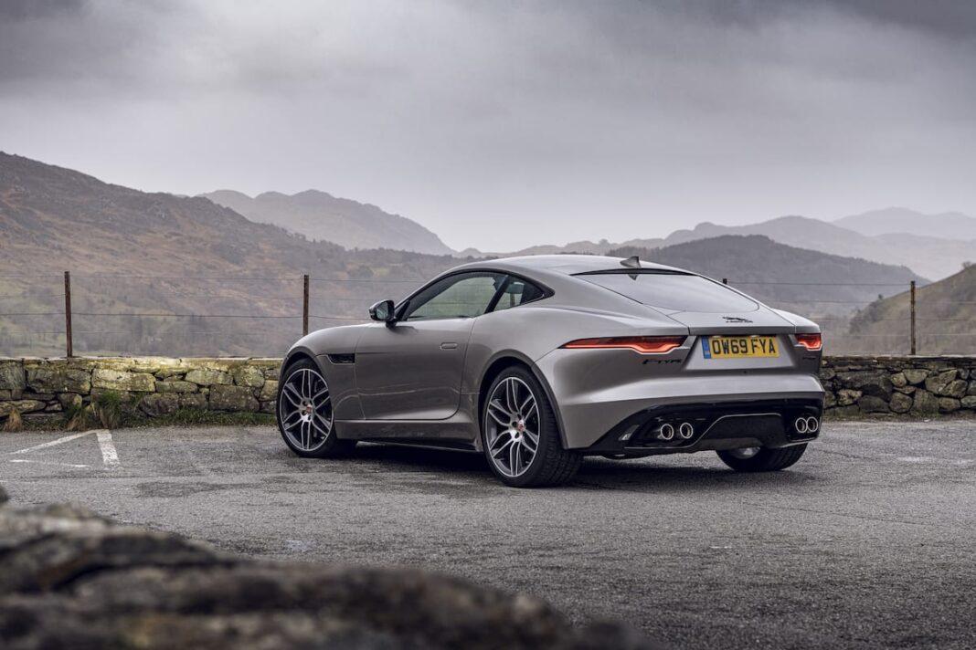 Jaguar F-Type coupé (2020 onwards) - rear view