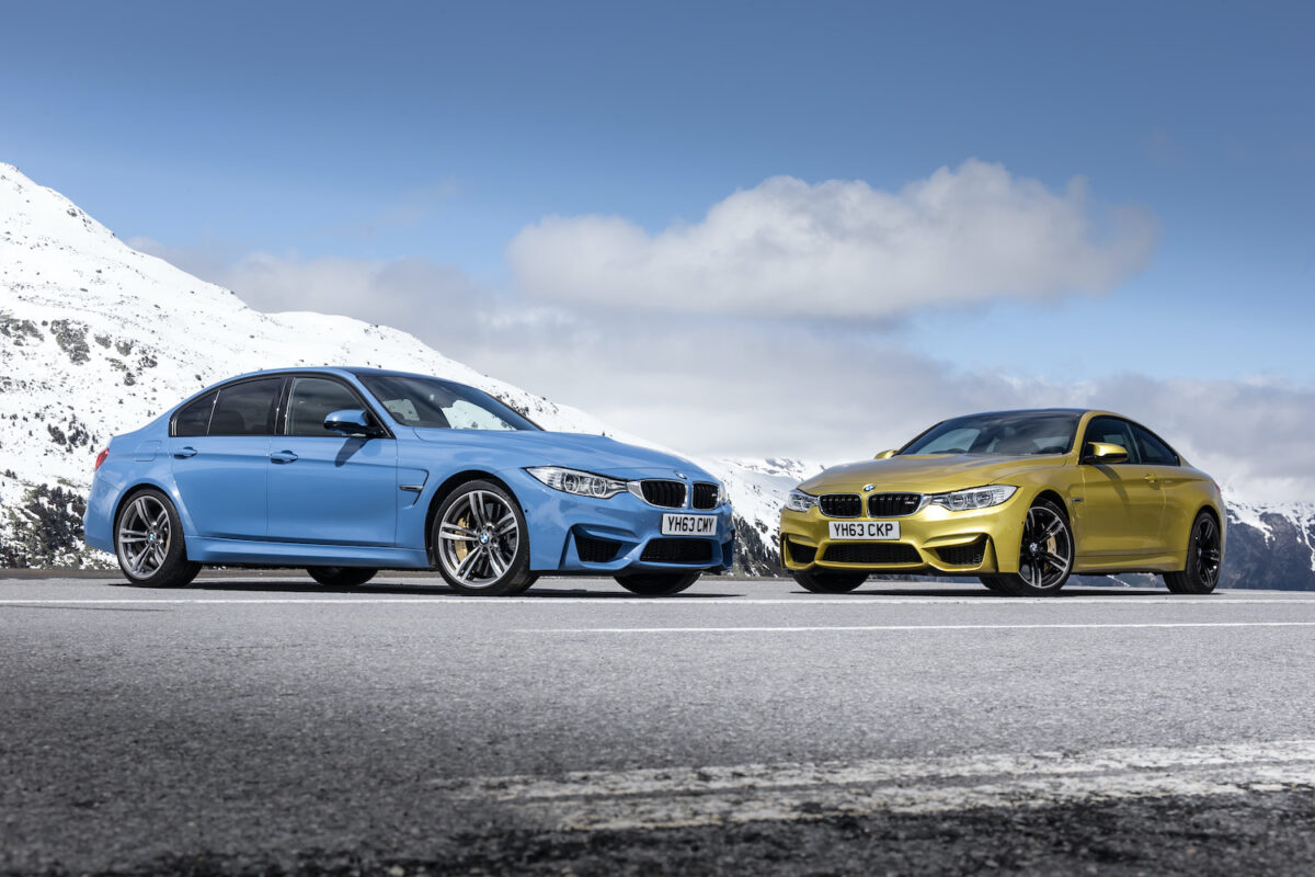 BMW M3 F80 saloon and M4 F82 coupé