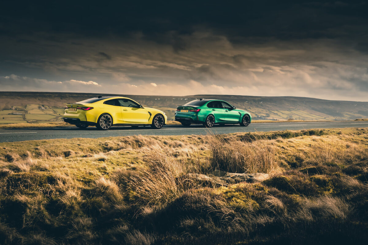 2021 BMW M4 G82 coupé and M3 G80 saloon