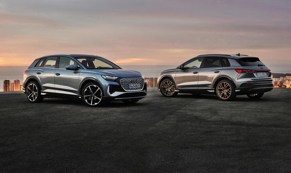 Audi q4-etron front and rear