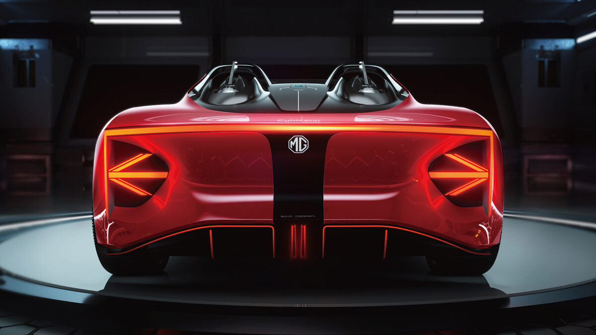 MG Cyberster rear view