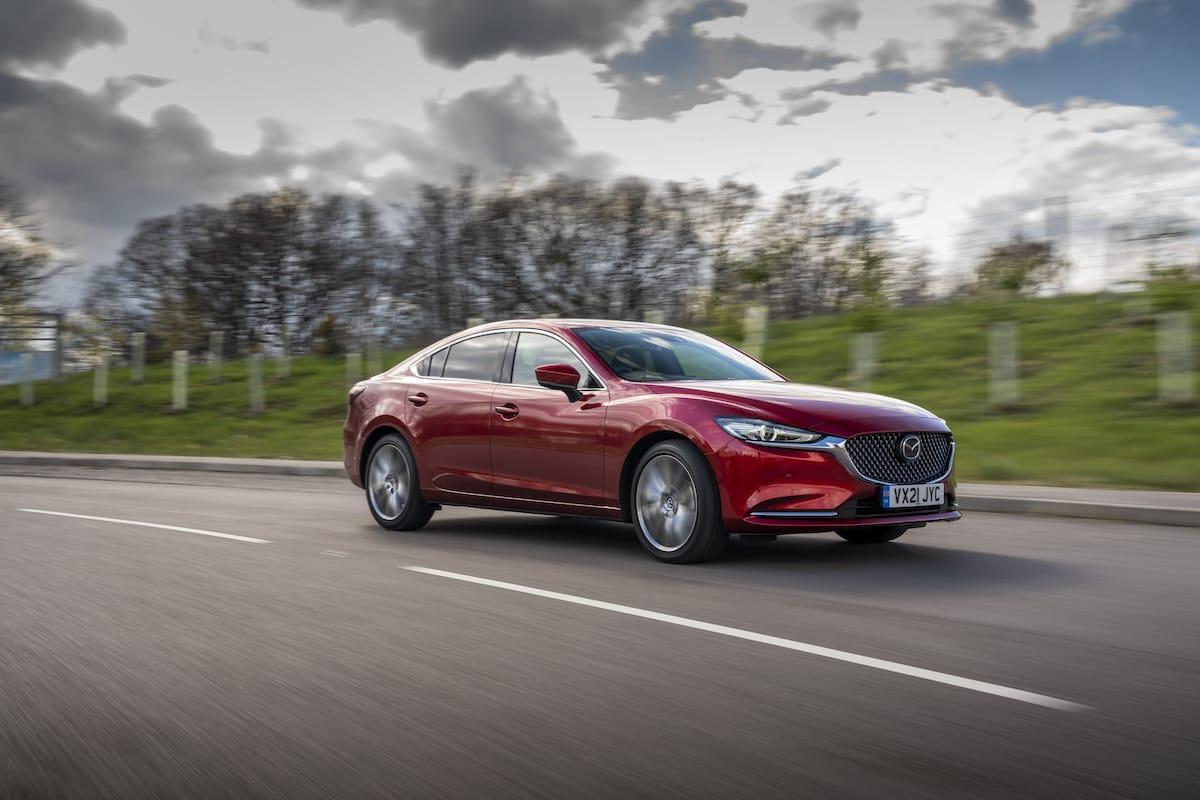 Mazda 6 saloon (2013 onwards) – front three-quarter