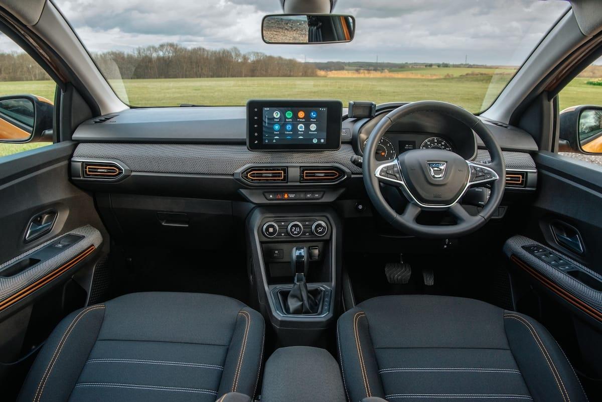 Dacia Sandero Stepway (2021 onwards) – interior and dashboard