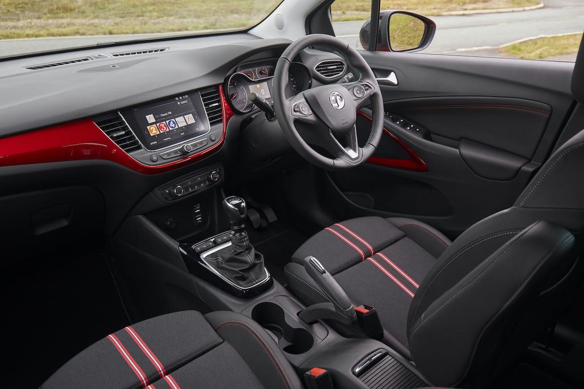 Vauxhall Crossland (2021 onwards) – interior and dasboard