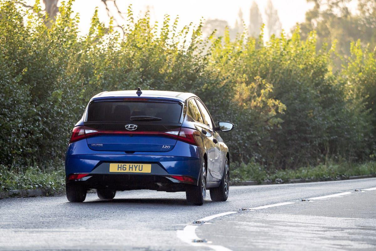 Hyundai i20 (2020 onwards) – rear view