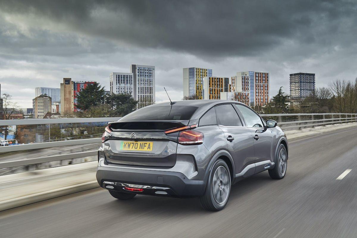 Citroën ë-C4 (2021 onwards) – rear view