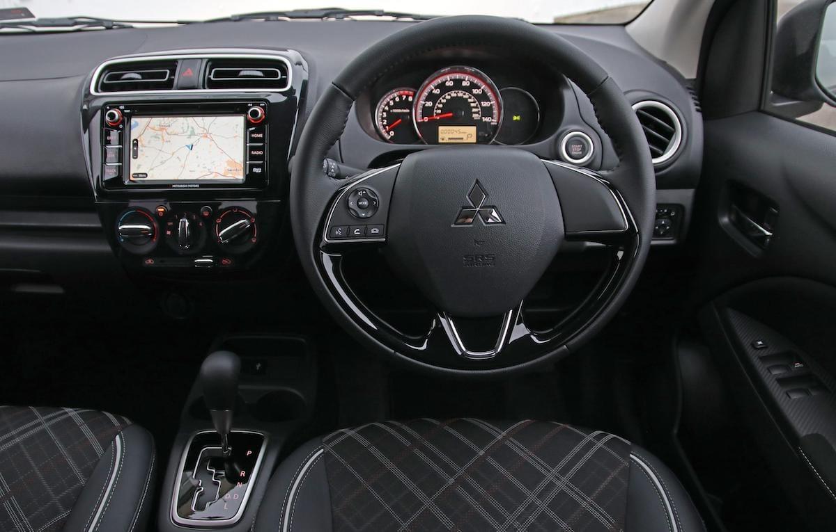 Mitsubishi Mirage (2020 onwards) – interior and dashboard