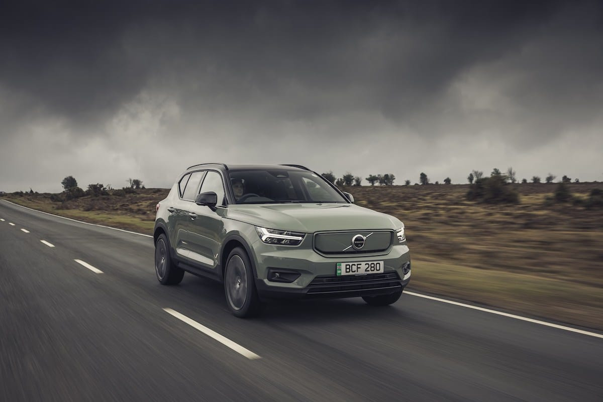 Volvo XC40 Recharge (2021 onwards) – front view