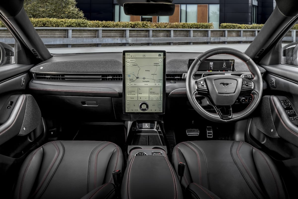 Ford Mustang Mach-E (2021 onwards) – interior and dashboard
