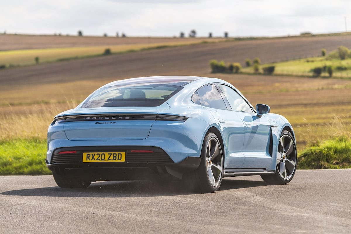 Porsche Taycan 4S (2020 onwards) - rear