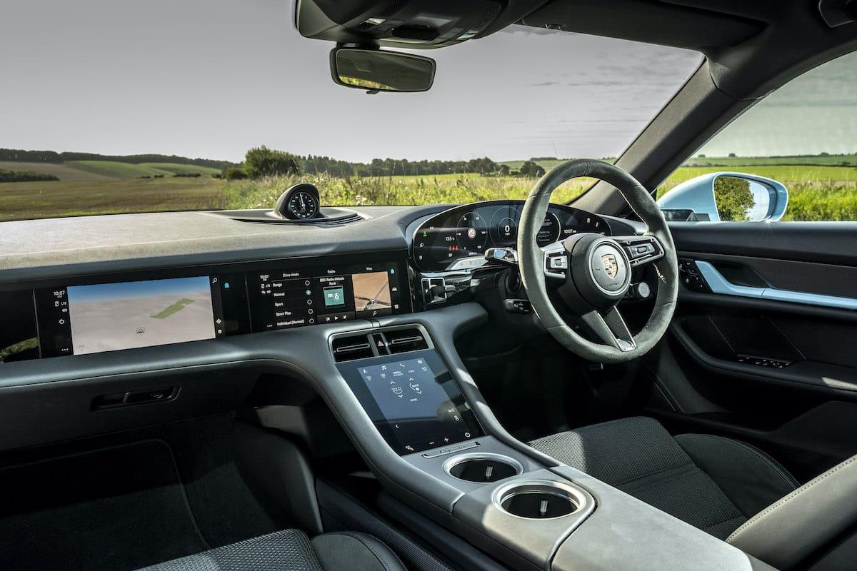Porsche Taycan 4S (2020 onwards) - interior and dashboard