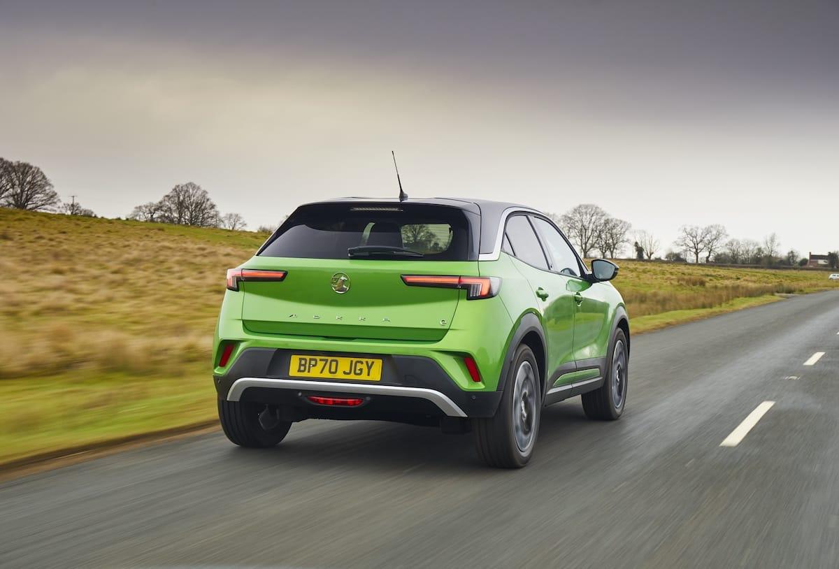 Vauxhall Mokka-e (2021 onwards) - rear view