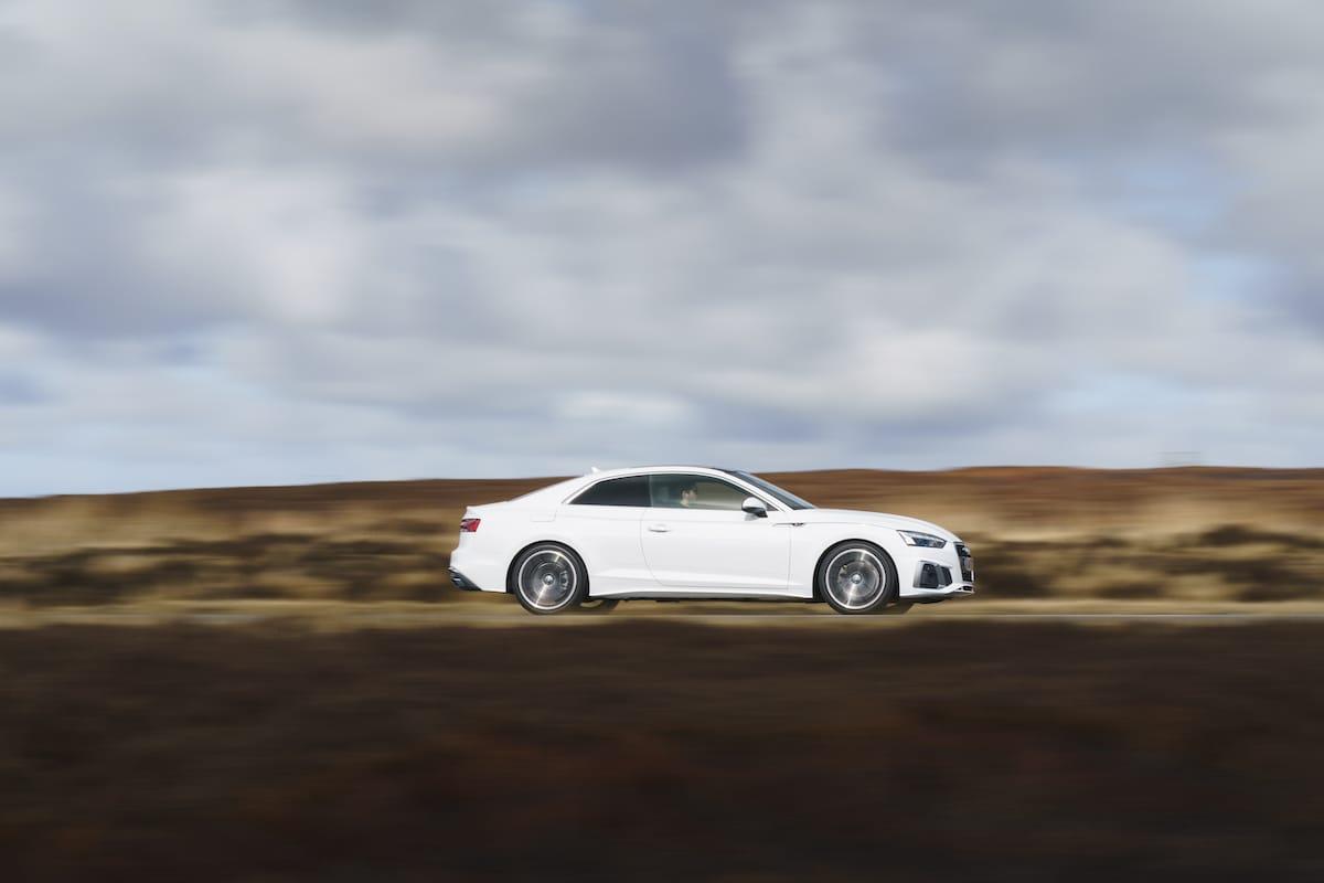 Audi A5 Coupé (2016 onwards) - side profile