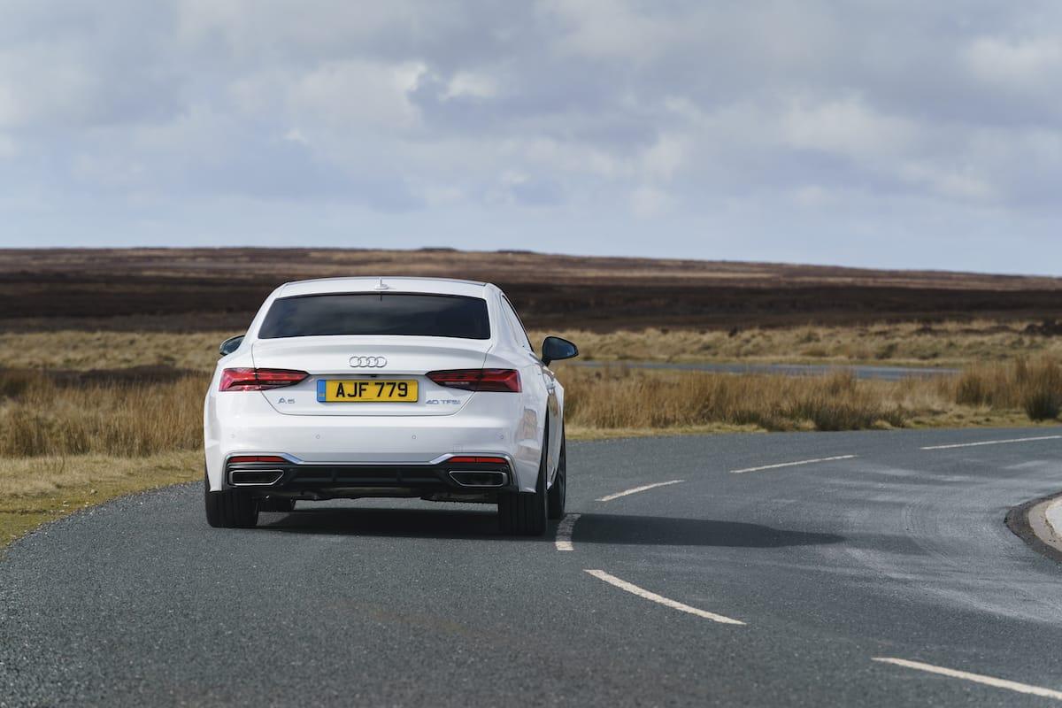 Audi A5 Coupé (2016 onwards) - rear view