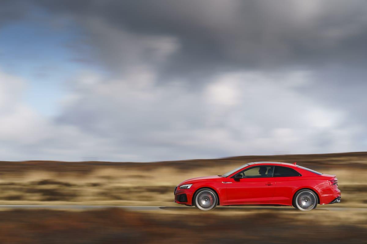 Audi S5 Coupé (2017 onwards) - side profile