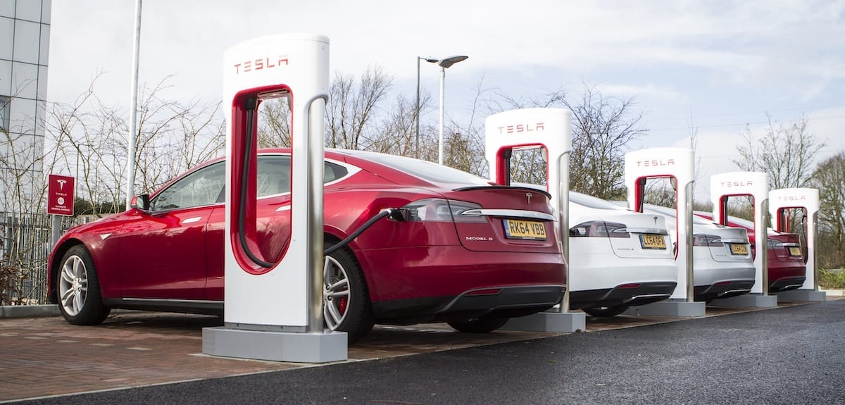 Tesla Supercharger charging point