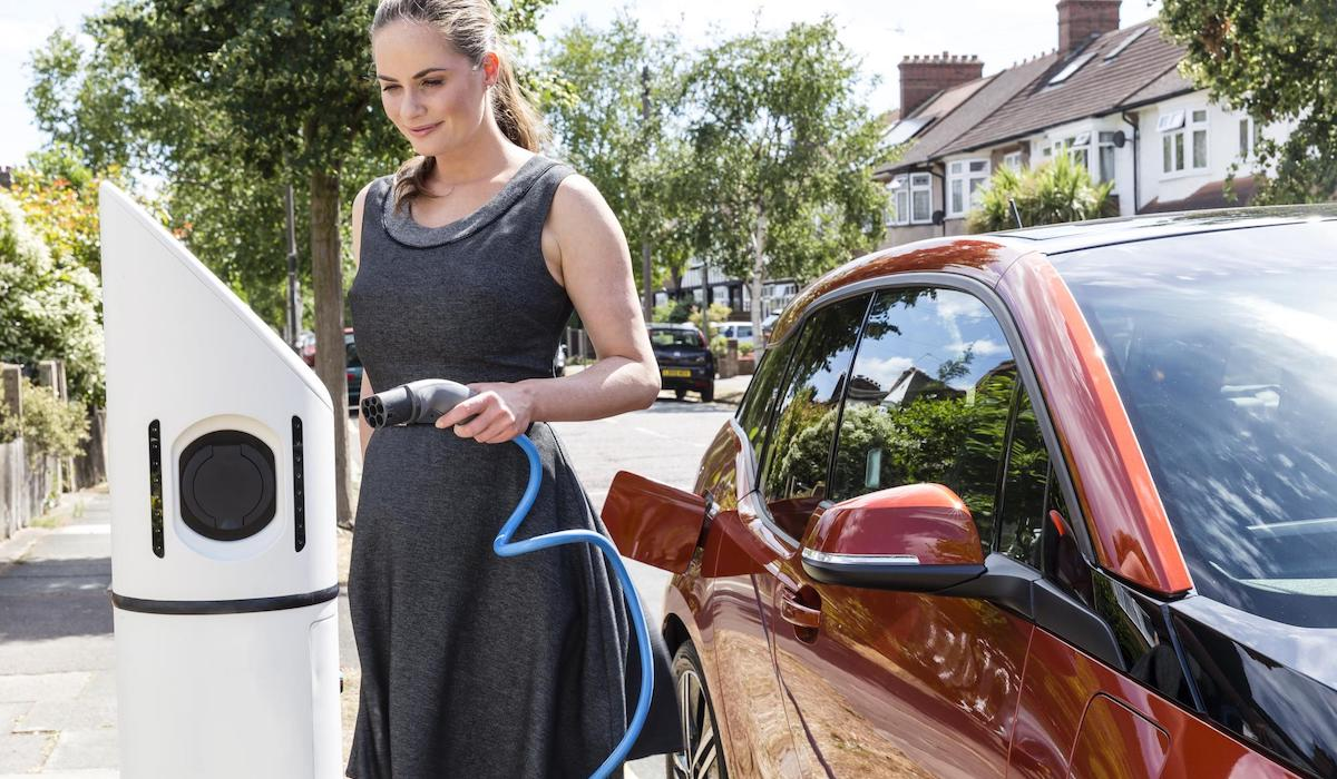 On-street electric car charging