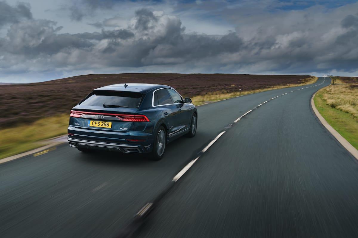 Audi Q8 blue (2018 onwards) – rear view