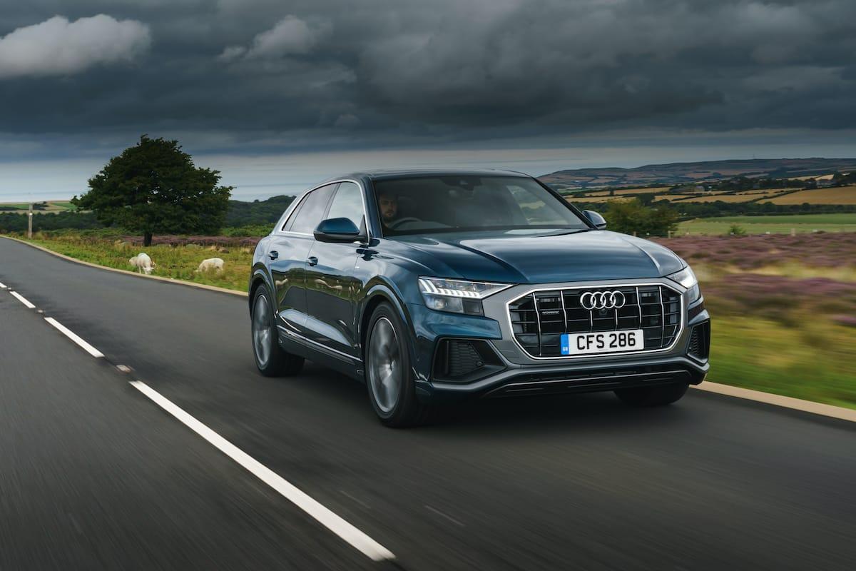 Audi Q8 blue (2018 onwards) – front view