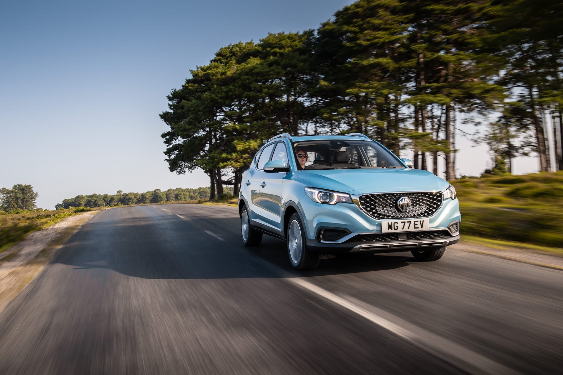 MG ZS EV (2019 onwards) – front view