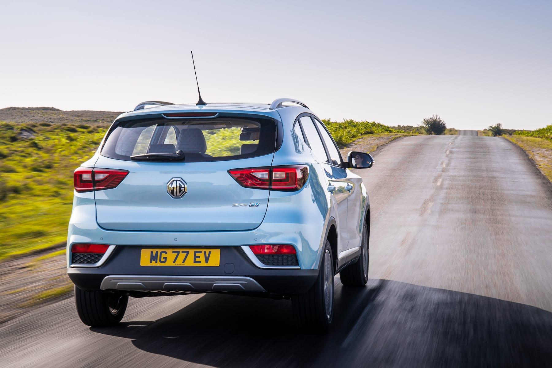MG ZS EV (2019 onwards) – rear view