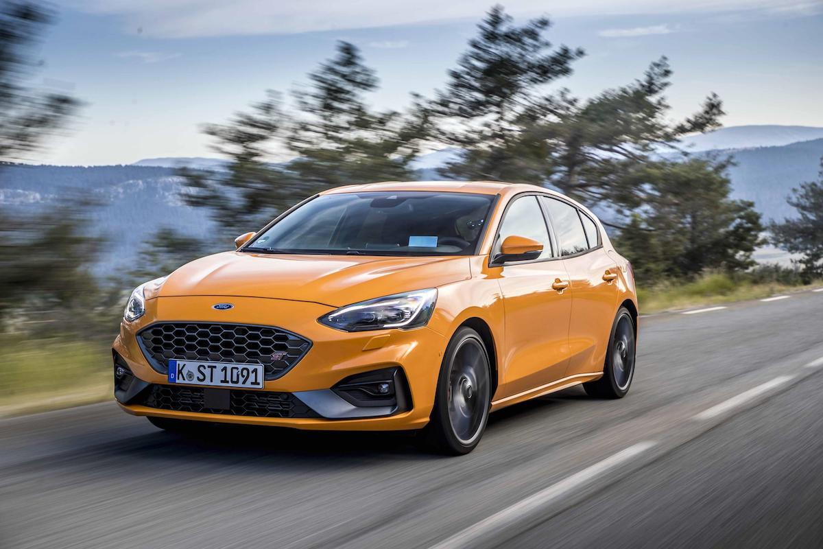 Ford Focus ST (2019 onwards) - Orange Fury, front view