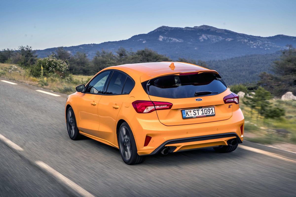 Ford Focus ST (2019 onwards) - Orange Fury, rear view
