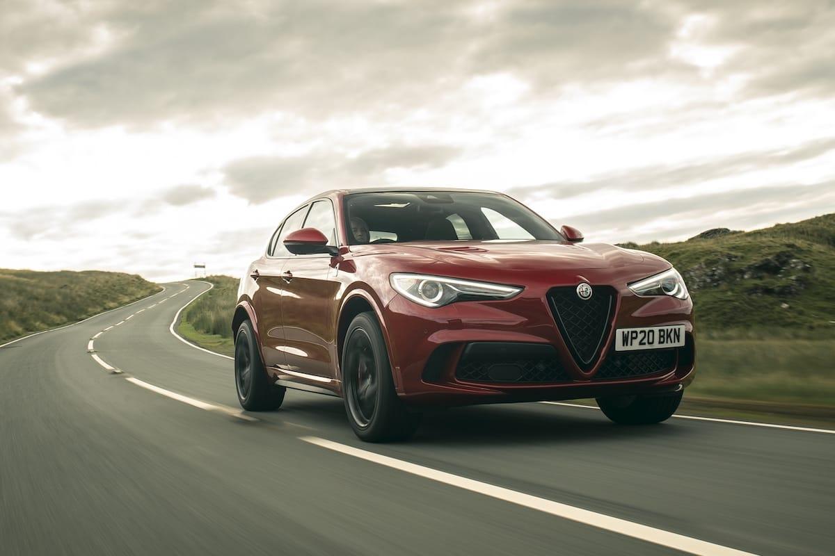 Alfa Romeo Stelvio Quadrifoglio (2018 onwards) – front view