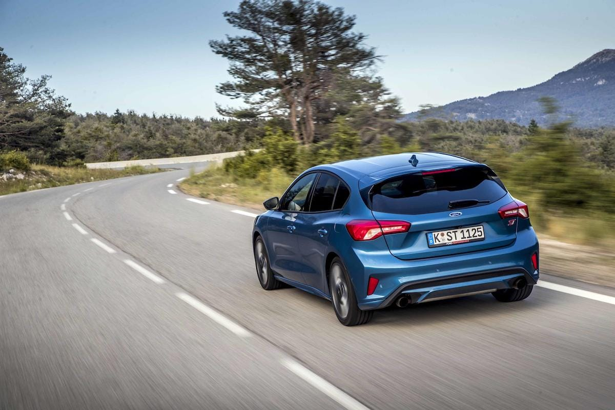 Ford Focus ST (2019 onwards) - Performance Blue, rear view