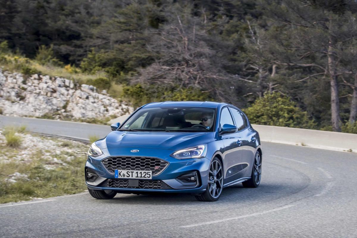 Ford Focus ST (2019 onwards) - Performance Blue, front view